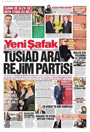 Yeni Şafak Gazetesi 4 Mart 2012 kapağı