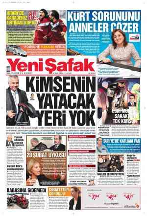 Yeni Şafak Gazetesi 5 Mart 2012 kapağı