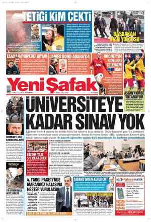 Yeni Şafak Gazetesi 6 Mart 2012 kapağı