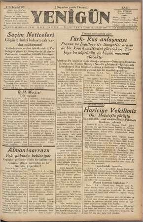 Yenigün (Antakya) Gazetesi 17 Ekim 1939 kapağı