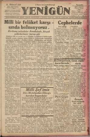 """NY ra 28 ai 1939 Şükrü BALCIOĞLU, Sahibi ve Besim 'muharri ri. t """" Gazeteye ait yazılar A """"Müdürü adına gönderilmelidir."""