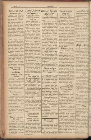 """Sayfa. — 2 — General Did Erzincana gitti Ankara"""" — İki gündenberi Kızılayın misafiri olarak şeh rimizde bulunan felâketzede"""