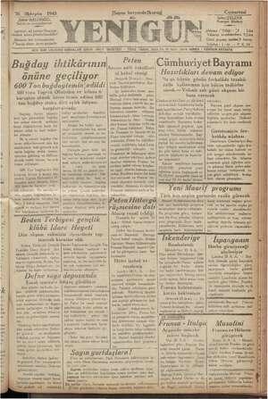 OL i u 26 m 1940 Şükrü 'B, Şükrdi 'BA LU, Sahibi ve Basim a Jazeteye ait yazılar'Neşriyat : vüdürü adına gönderilmelidir?...