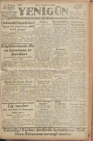 """""""o 28 ilk kânun rü BALCIOĞLU Sahibi ve Başmuharriri Gazete; ait yazılar Neşriyat Müdü ürü silkme Çö inderilmelidir. UWânların"""