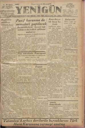 31 Şükrü BALC, i ilk kânun j TOLU « Sahibi ve Baş muharrir; Gazeteye ait yazılar N üdürü adına Yönlerini Wânların her...