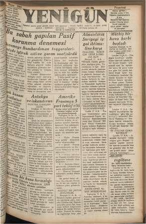Serilma, YEN be) Öcleden sonra çıkar günlük siyasi halk gazetesi — TESİS TARİHİ AD RES : YENİGÜN -- - ANTAKYA Ss AYISI 2...
