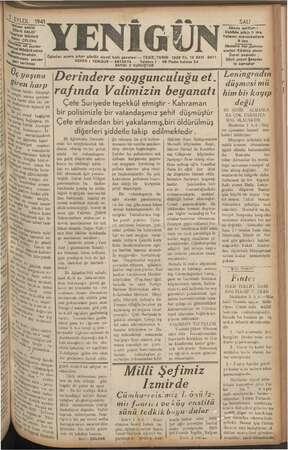 SEYLUL 1941 Şia sahibi Maya U BALCI* geriyat Müdürü im vie GELEN Di ait rl emel. ba siereİ yazılar ç ia Siren narp am