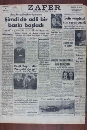 Zafer Gazetesi 30 Nisan 1949 kapağı