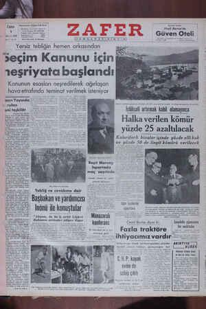 Zafer Gazetesi 1 Temmuz 1949 kapağı