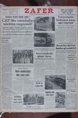Zafer Gazetesi 4 Temmuz 1949 kapağı