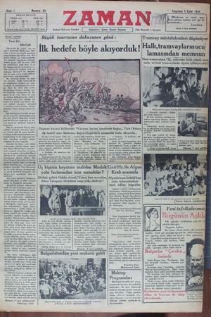 Zaman Gazetesi 3 Eylül 1934 kapağı