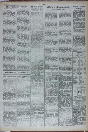 13 Haziran —ZAMAN— 1 Hava tehlikesini bilenler ku- ruma üye olanların - isimlerini 'neşre devam ediyoruz: 1087 b.>...