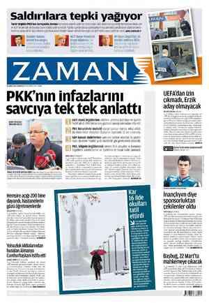 Zaman Gazetesi 18 Şubat 2012 kapağı
