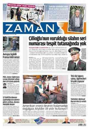 Zaman Gazetesi 19 Şubat 2012 kapağı