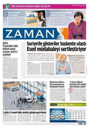 Zaman Gazetesi 20 Şubat 2012 kapağı