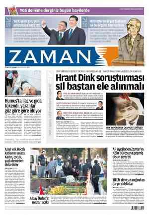 Zaman Gazetesi 22 Şubat 2012 kapağı