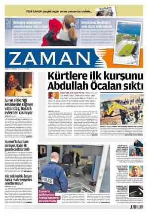 Zaman Gazetesi 23 Şubat 2012 kapağı
