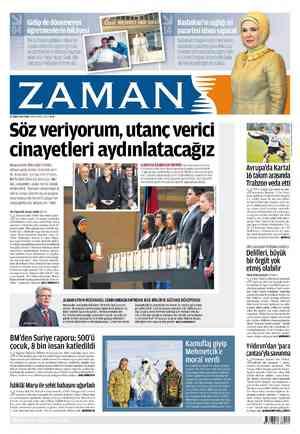 Zaman Gazetesi 24 Şubat 2012 kapağı