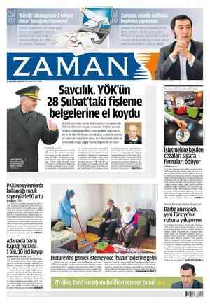 Zaman Gazetesi 25 Şubat 2012 kapağı
