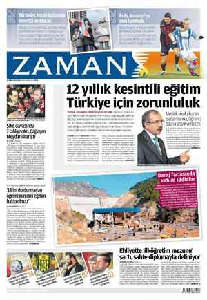 Zaman Gazetesi 26 Şubat 2012 kapağı