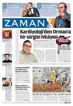 Zaman Gazetesi 28 Şubat 2012 kapağı