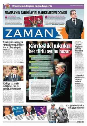 Zaman Gazetesi 29 Şubat 2012 kapağı