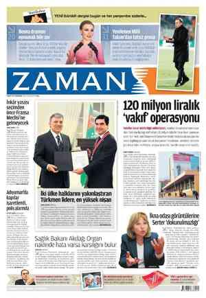 Zaman Gazetesi 1 Mart 2012 kapağı