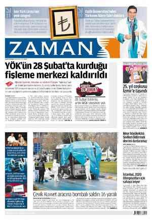Zaman Gazetesi 2 Mart 2012 kapağı