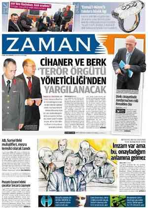 Zaman Gazetesi 3 Mart 2012 kapağı