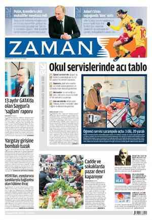 Zaman Gazetesi 6 Mart 2012 kapağı