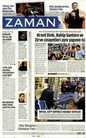 , .Mali hükümeti Türkiye, dün- yanın film platosu oldu. AZ OCAK 2013 CUMARTESİ UNAZAMANLOMTR Or BAŞBAKAN ERDOĞAN: Kabinede